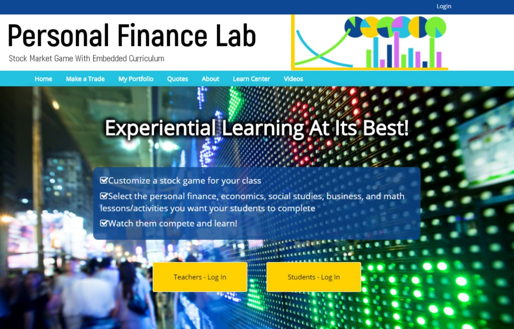 PersonalFinanceLab.com home page