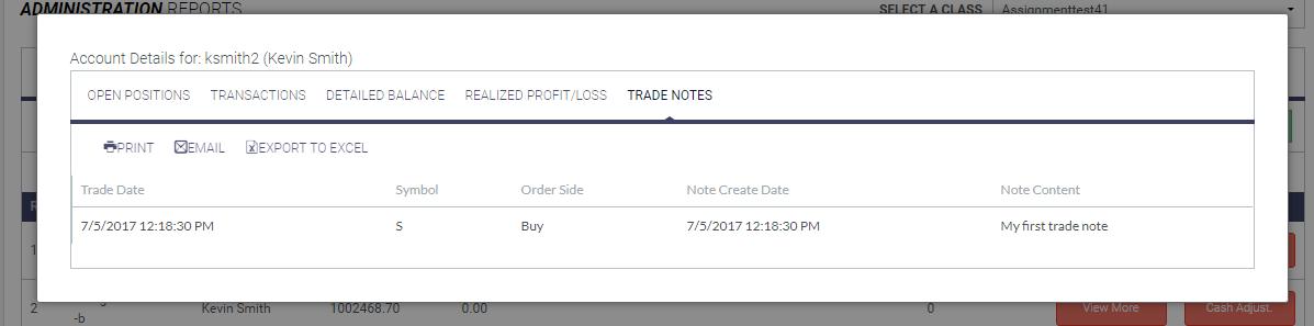 trade notes modal