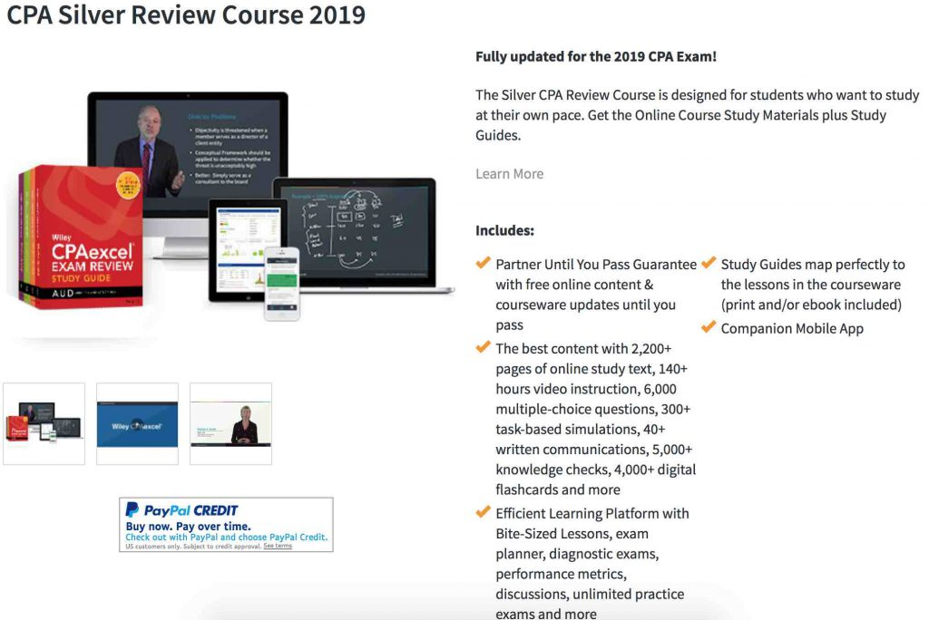 Wiley CPA Review Course Details
