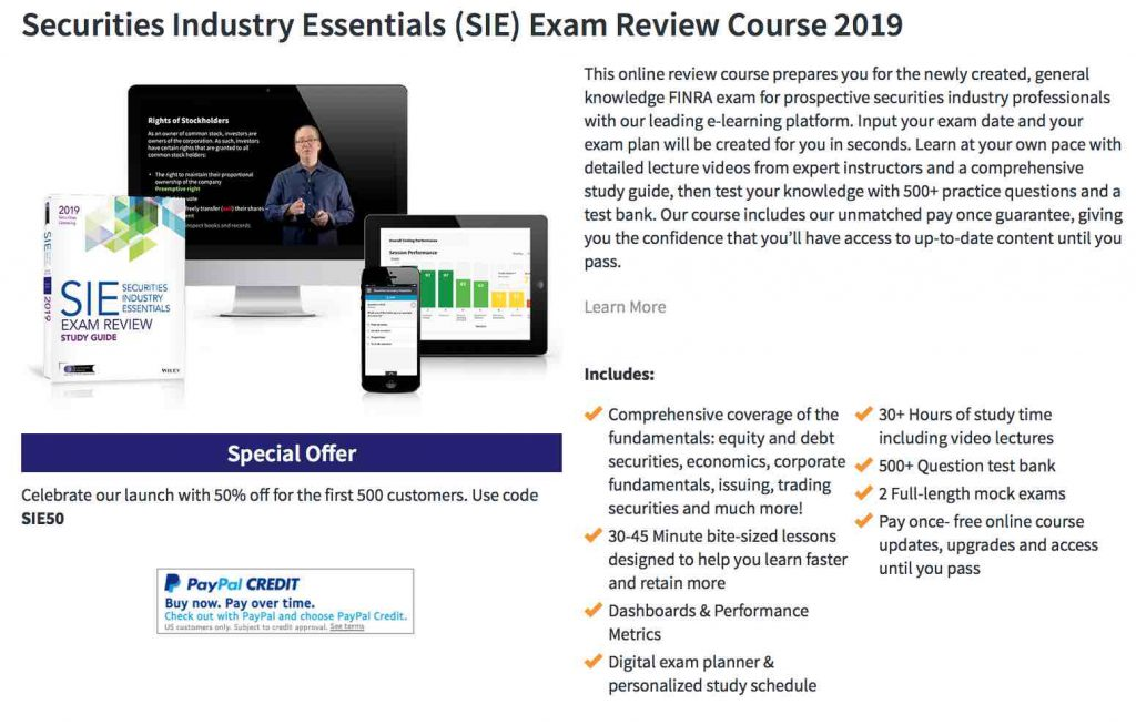Securities Industry Essentials SIE StockTrak
