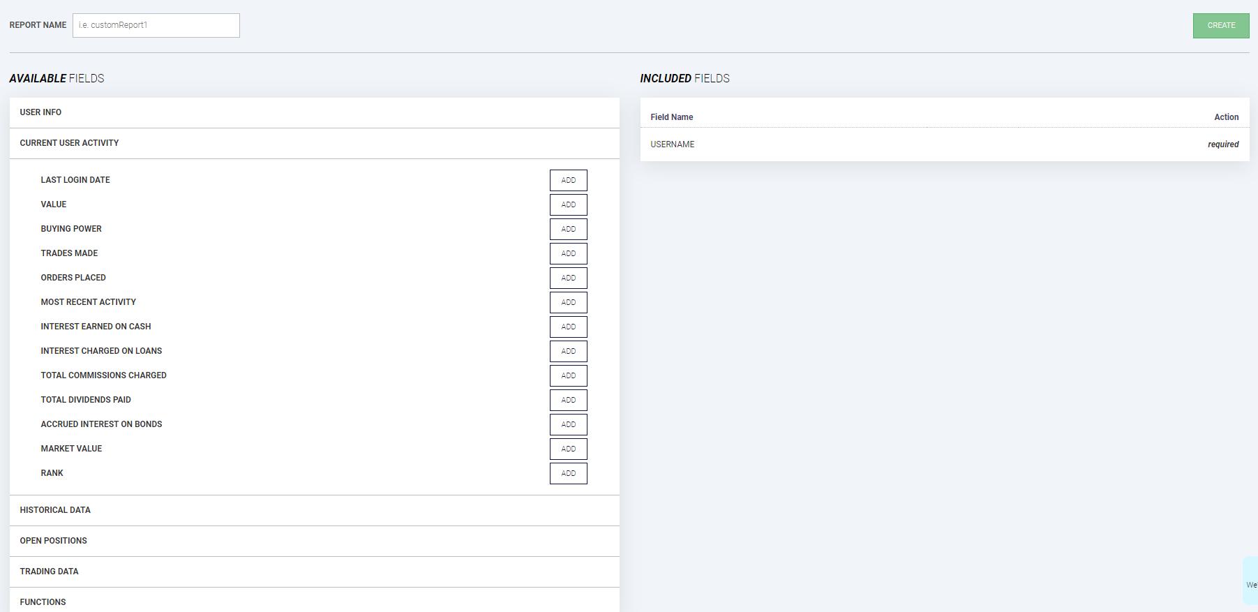 StockTrak Creating Custom Report